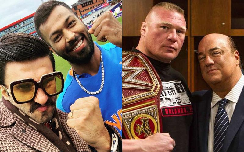 """After Ranveer Singh, Hardik Pandya Targeted By Brock Lesnar's Advocate Paul Heyman: """"You Are Not Man Enough"""""""