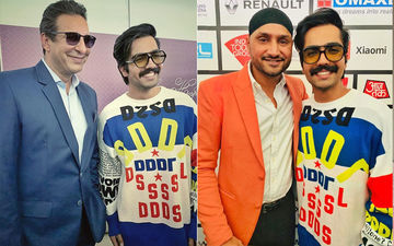 Harrdy Sandhu's Latest Pictures With Legendary Cricketers Wasim Akram and Harbhajan Singh Will Bowl You Over