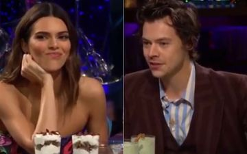 Kendall Jenner Eats Bull Pen*s  After Rumored Ex-Boyfriend Harry Styles Asks A Question On James Corden's Show