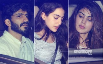 Harshvardhan Kapoor Parties With Sara Ali Khan At Kareena Kapoor's Home, Rhea Chakraborty Joins In!