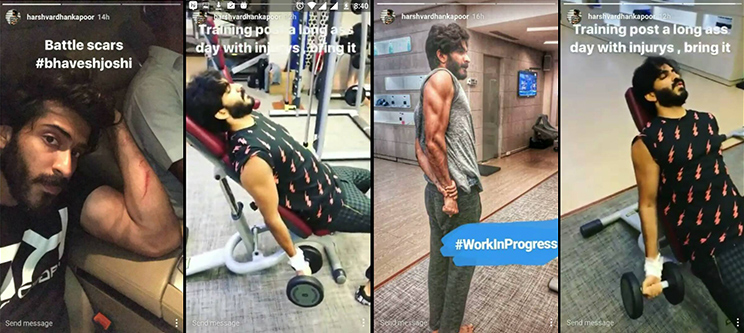 harshvardhan kapoor working out after a while in the gym
