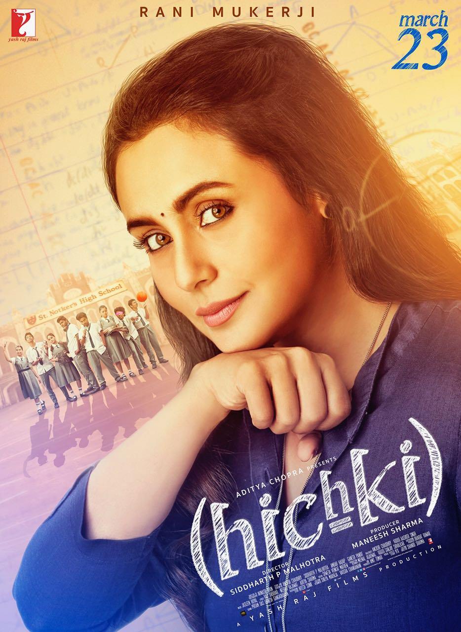 hichki poster featuring rani mukerji