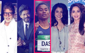 एथलीट हिमा दास ने भारत के लिए जीता गोल्ड, अमिताभ बच्चन, शाहरुख़ खान और कई स्टार्स ने दी बधाई