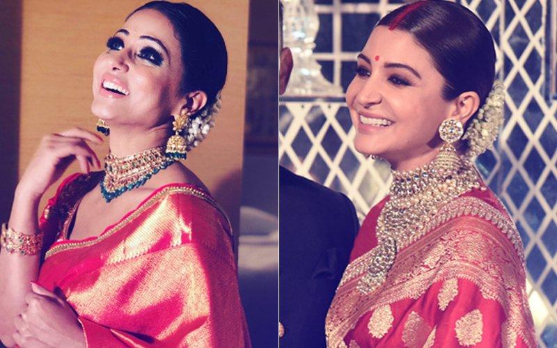 Hina Khan Takes Style Inspiration From Anushka Sharma's Reception Look