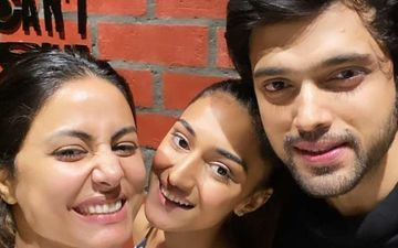 Kasautii Zindagi Kay 2: Hina Khan, Erica Fernandes And Parth Samthaan Have A Mini-Reunion At Latter's Birthday Bash And We Are Thrilled