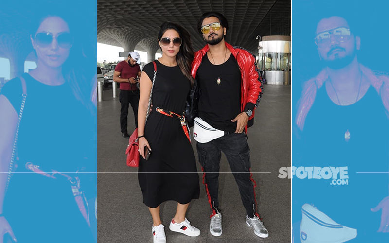 Hina Khan Aka Komolika Twins In Black With Boyfriend Rocky Jaiswal