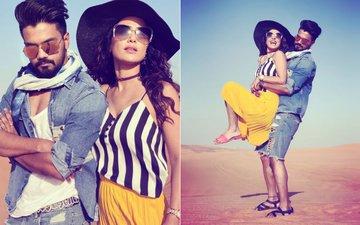 Dubai Diaries: Pics From Hina Khan & Rocky Jaiswal's Romantic Desert Safari