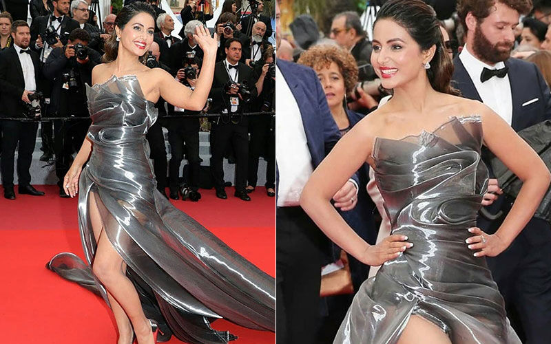 Hina Khan At Cannes 2019:  Actress Is A Complete Stunner In A Metallic Silver Gown