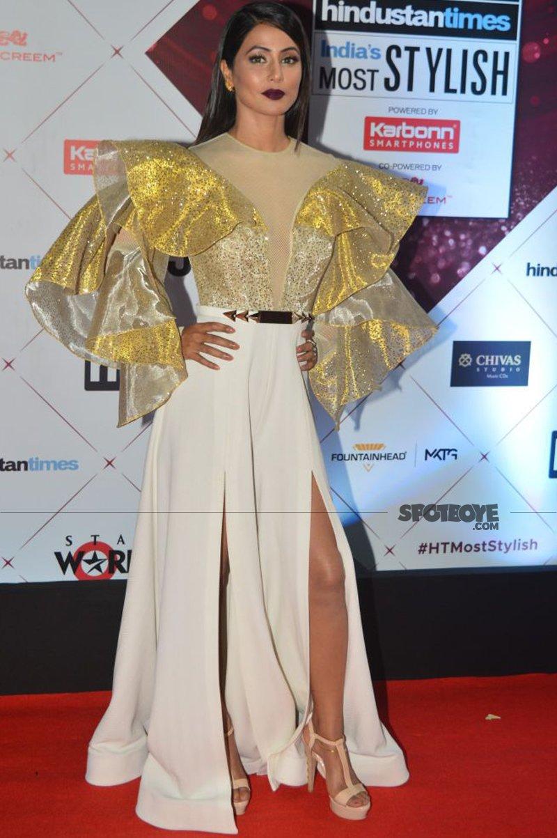 hina khan at ht most stylish awards