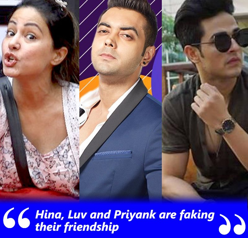 hina khan luv tyagi and priyank sharma