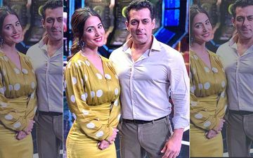 Bigg Boss 13: Hina Khan To Grace BB's First Weekend Ka Vaar; Shares Picture With Salman Khan From The Sets