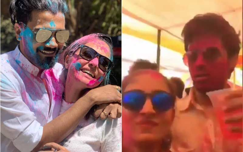 Hina Khan's Romantic Holi Dance With Boyfriend Rocky On Road; Parth Samthaan Pours A Drink On Erica Fernandes- Fun Videos!