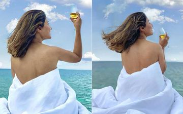Hina Khan Goes TOPLESS; Actress Poses In A White Blanket Flaunting Her Bare Back With An Astounding Backdrop- We Feel Envious
