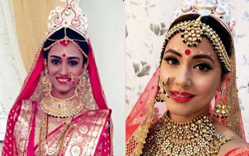 Erica Fernandes VS Hina Khan - Who Werked The Bengali Bridal Look Better?