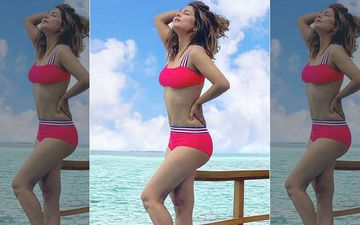 Hina Khan Looks Like A Bombshell As She Soaks Up The Sun In A Red Bikini; Actress Gives A Glimpse Of Her Stunning Maldives Getaway