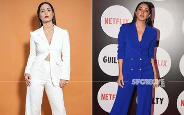 Power Suit Fashion Face-Off: Kiara Advani And Hina Khan Rock Similar Outfits But Hina's Turns Out To Be An EPIC FAIL