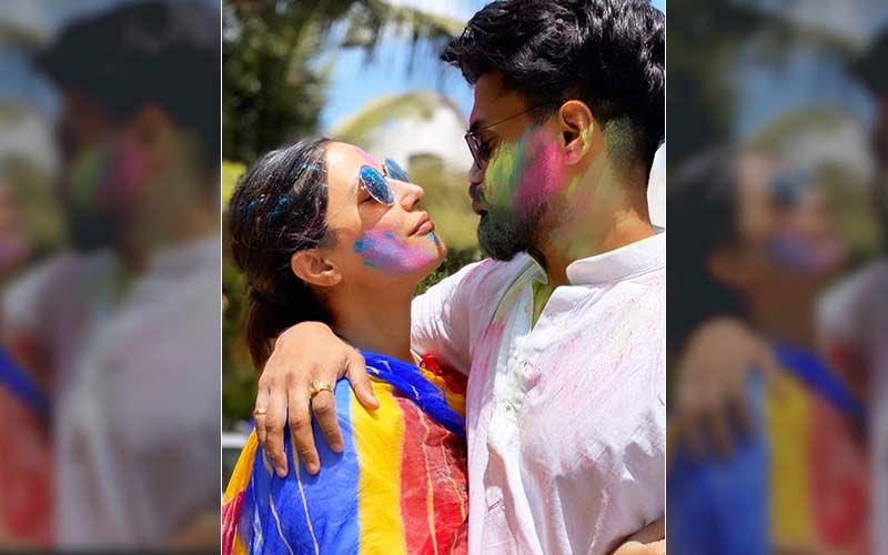 Holi 2020: Drenched In Colour Of Love, Hina Khan And Rocky Jaiswal Take A Post Holi Nap And It's Awwdorable