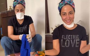 Coronavirus Lockdown: Hina Khan Goes Grocery Shopping; Comes Back And Gives A Tutorial On How To Sanitize All The Items - VIDEO