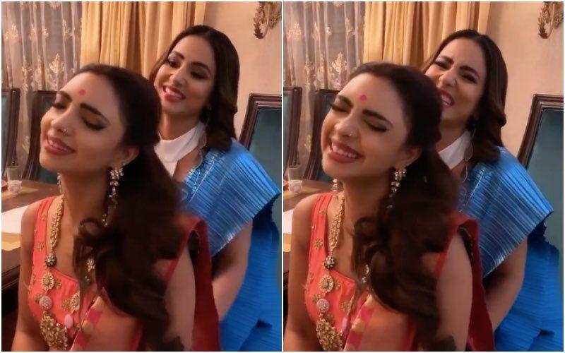 Kasautii Zindagii Kay 2's Hina Khan Gives A Naughty Back Massage To Co-Star Pooja Banerjee As She Oohs And Aahs – VIDEO