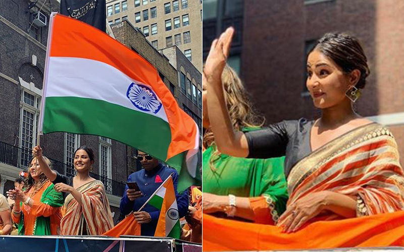 Hina Khan Showered With Immense Love As She Takes Part In The India Day Parade In New York
