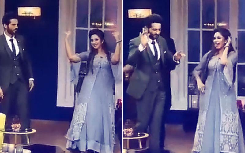 Video: Arshi Khan Makes Hiten Tejwani Dance On Mere Rashke Qamar...