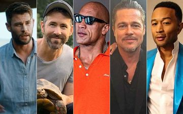 John Legend, Ryan Reynolds, Dwayne Johnson, Chris Hemsworth, Brad Pitt  - Meet The Hottest Daddies Of Hollywood