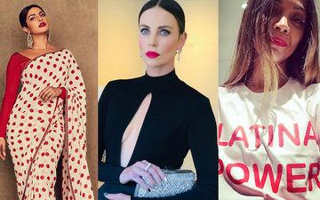 HOLLYWOOD'S HOT METER: Priyanka Chopra, Charlize Theron Or Zoe Saldana - Wearing Red Confidence On Lips