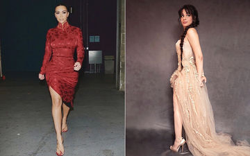 HOLLYWOOD'S HOT METER: Kim Kardashian Or Camila Cabello - Slit Dresses Are In Vogue