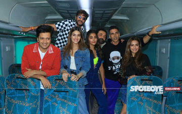 Housefull 4 Express UNCUT Video: Akshay, Kriti, Riteish, Bobby, Pooja's Fun Train Journey With Lots Of Games And Laughs- EXCLUSIVE