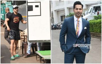 How I Went In And How I Came Out: Varun Dhawan Looks Suave In A Blue Suit, But Can We Ditch The Colourful Tie?