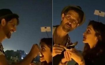 After Deepika Padukone Calls Hrithik Roshan 'Death By Chocolate', Actor Feeds Her Chocolate Cake - GOOEY VIDEO