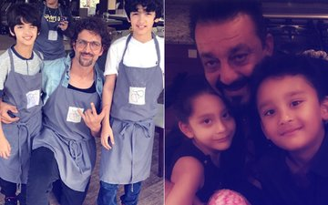 Man Crush Monday: B-Town Hunks Hrithik Roshan & Sanjay Dutt's Day Out With Kids