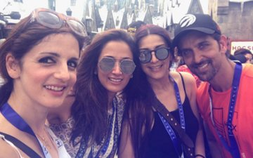 Hrithik Roshan Enjoys A Vacation Abroad With Ex-Wife Sussanne Khan