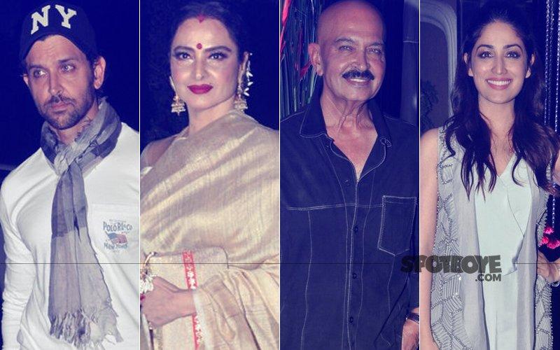 Rakesh Roshan Celebrates Birthday With Hrithik Roshan, Rekha, Yami Gautam