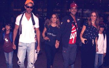 गोवा में छुट्टियां मनाकर वापस मुंबई लौटे रितिक रोशन और सुजैन खान