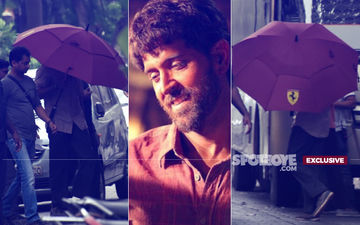 Hrithik Roshan Hides Under Umbrella Despite No Rain. Here's Why