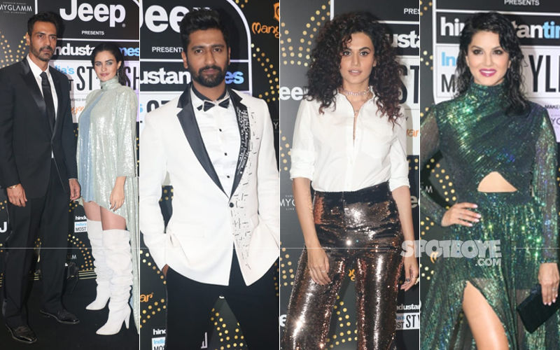 HT Most Stylish Awards 2019: Arjun Rampal Enters With Girlfriend Gabriella; Vicky Kaushal, Taapsee Pannu, Sunny Leone Make A Fashionable Splash