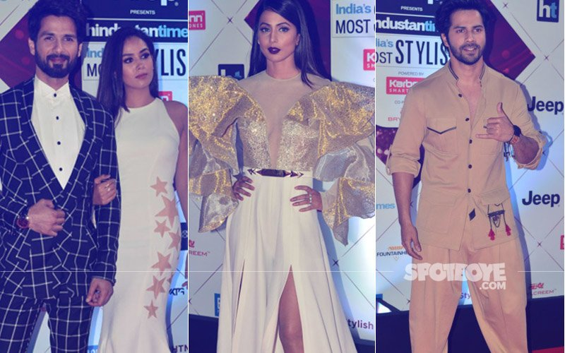 HT Most Stylish Awards 2018: Mira Rajput-Shahid Kapoor, Varun Dhawan, Hina Khan Take The Trophies Home
