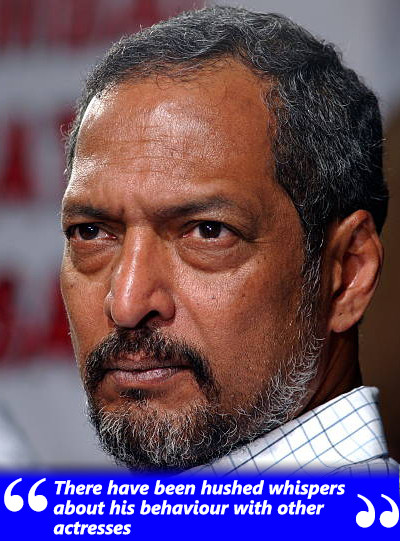 hushed whispers about nana patekar