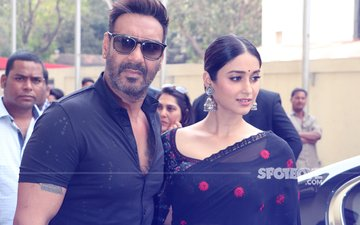 Ajay Devgn & Ileana D'Cruz Look Stunning In Black At Raid Trailer Launch – View Pics