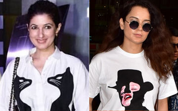 We're Loving Twinkle Khanna And Kangana Ranaut's Cheeky Shirt Style!