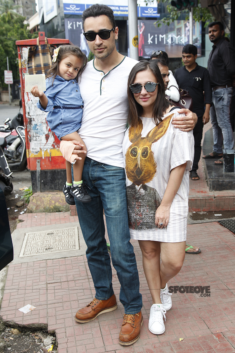 imraan khan with avantika and daughter