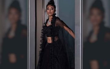 In kohl-Rimmed Eyes And Black Lehenga, Paoli Dam Is Oozing Sass And Style