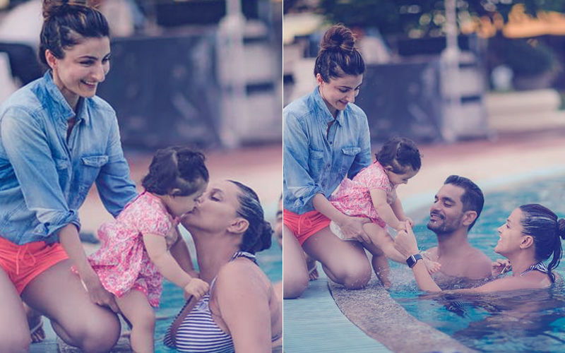 Inaaya's 1ST Birthday: Neha Dhupia's Pool Fun With The Cutesy Li'l Princess