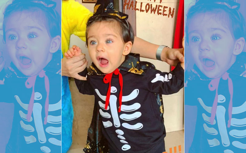 Inaaya Turns The Cutest Little Ghost For Halloween - View Pic