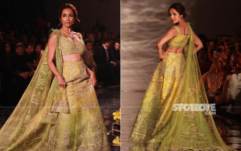 India Couture Week 2019: Malaika Arora Hits The Runway Looking Like The Ultimate Green Goddess