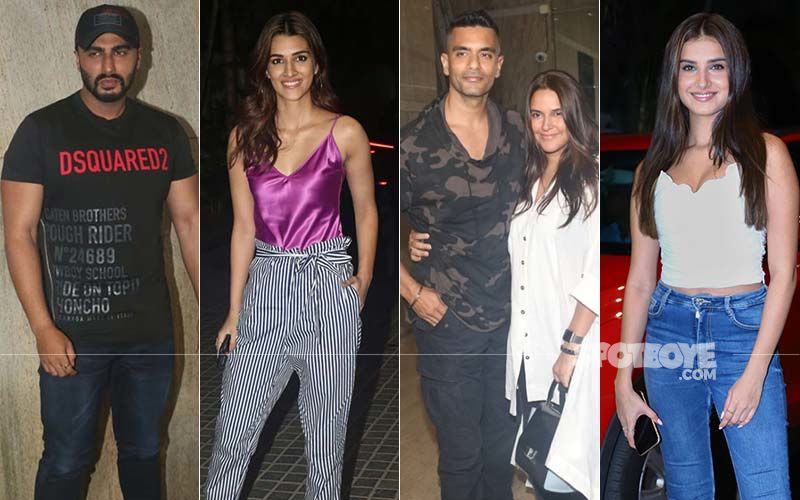 Neha Dhupia-Angad Bedi, Kriti Sanon, Tara Sutaria Catch A Special Screening Of Arjun Kapoor's India's Most Wanted