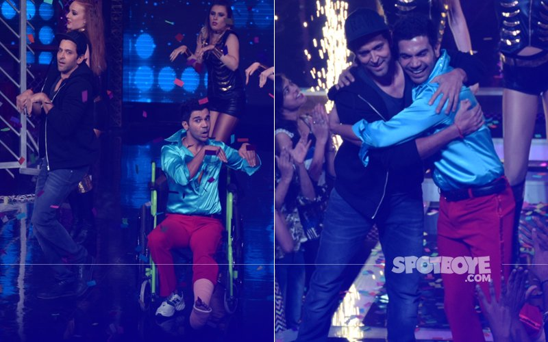 Hrithik Roshan Grooves With Injured Rajkummar Rao On Lip Sing Battle