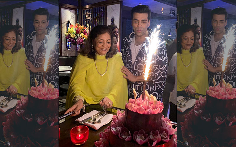 Inside Pics And Video: Karan Johar Celebrates Mom Hiroo's Birthday With Cake-Cutting And Lots Of Merriment
