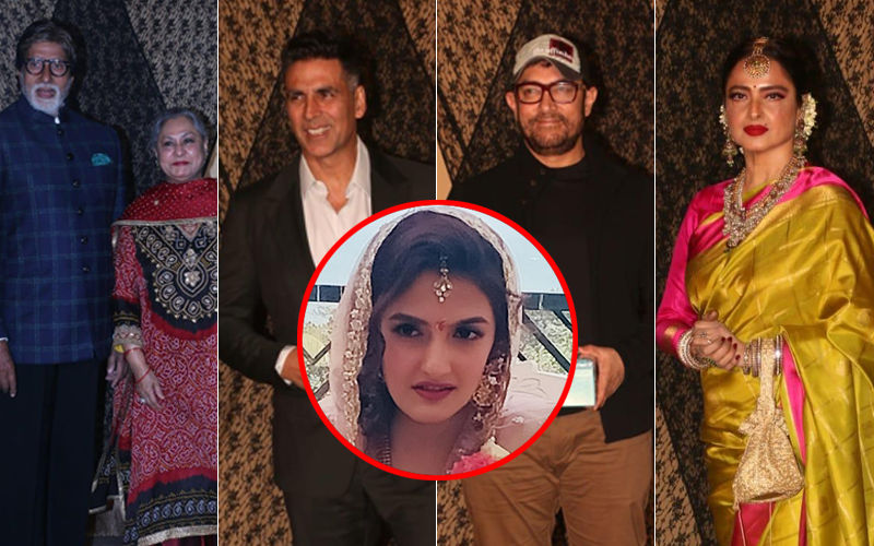 Inside Pics: Bachchans, Aamir, Rekha, Akshay Are Having A Ball At Mukesh Bhatt's Daughter Sakshi's Wedding Reception